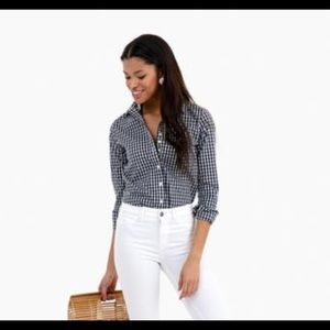 0253967312f205 The Shirt by Rochelle Behrens Tops - Gingham Button Down by Rochelle Behrens.  Size S